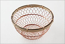 手編みかご 銅×竹|小