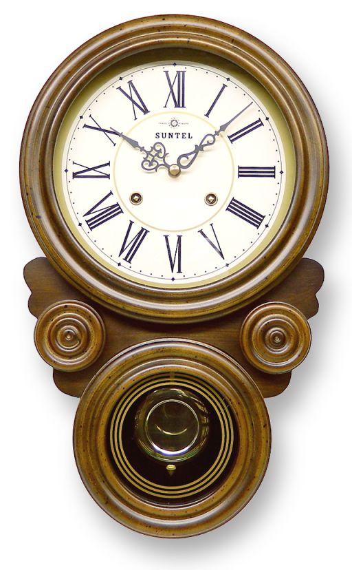 さんてる 渦ボン振り子時計 QL687 (文字盤:アラビア数字/ローマ数字)