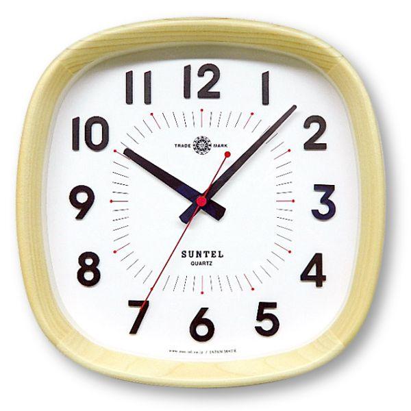 日本製 さんてる 天然木 インテリア掛け時計 「WARM」
