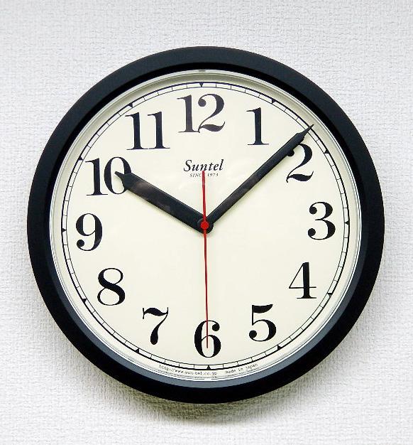 日本製 さんてる クラシカルラウンド掛け時計 QL888