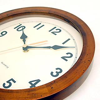 日本製 さんてる アンティーク電波掛け置き時計 DQL501