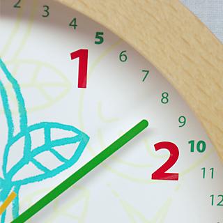 日本製 さんてる 小さなお子様向け コアラ 置き掛け時計 ナチュラル
