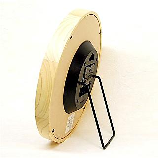 日本製 さんてる 天然木掛け時計 QL501