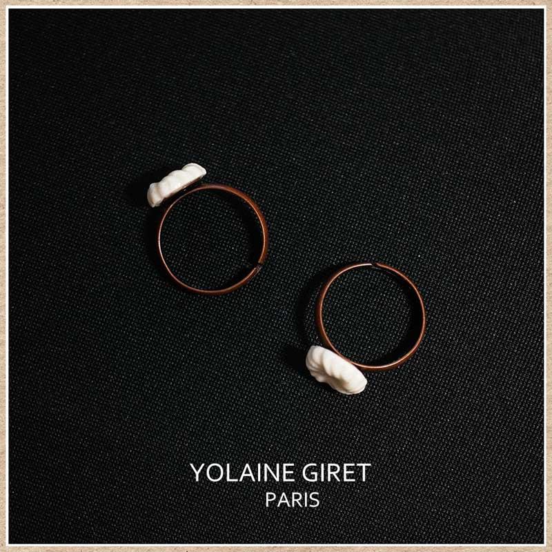 ヨレーヌジレ リモージュポーセリンのリング(指輪)
