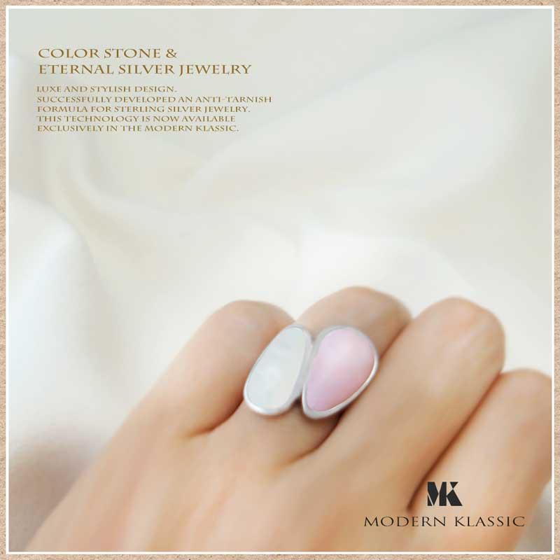 白蝶貝・ピンクオパールのリング(指輪)