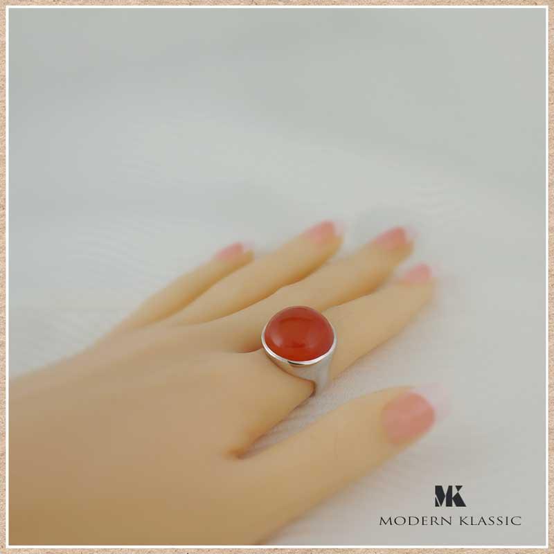 変色しないエターナルシルバーとクリソプレーズのリング(指輪)