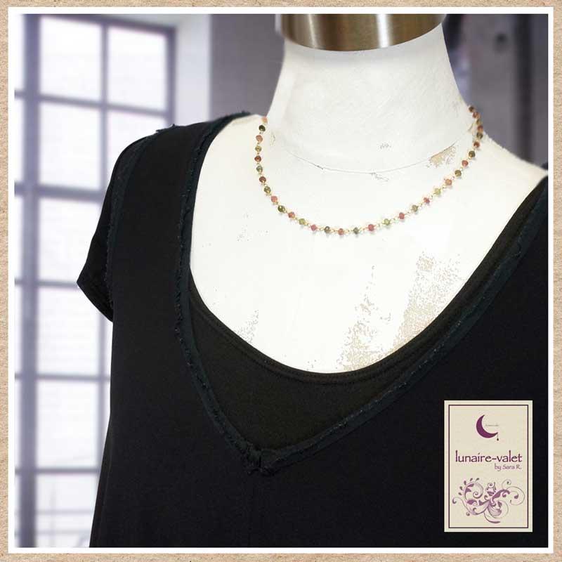 トルマリンの華奢なネックレス